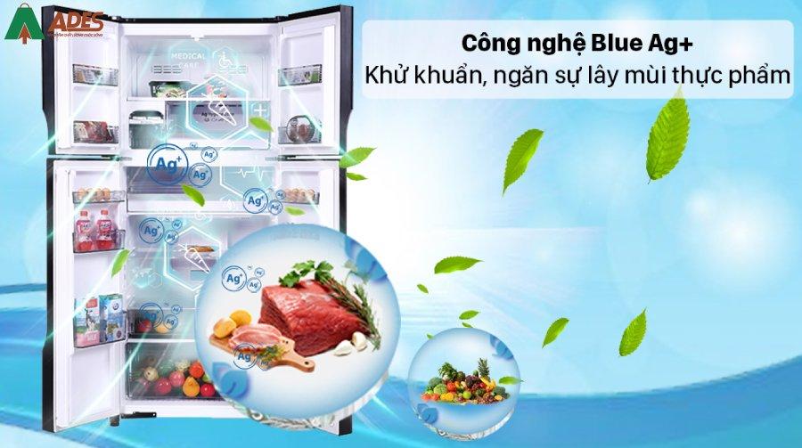 Panasonic NR DZ601VGKV Khang khuan, khu mui cung cong nghe Blue Ag+